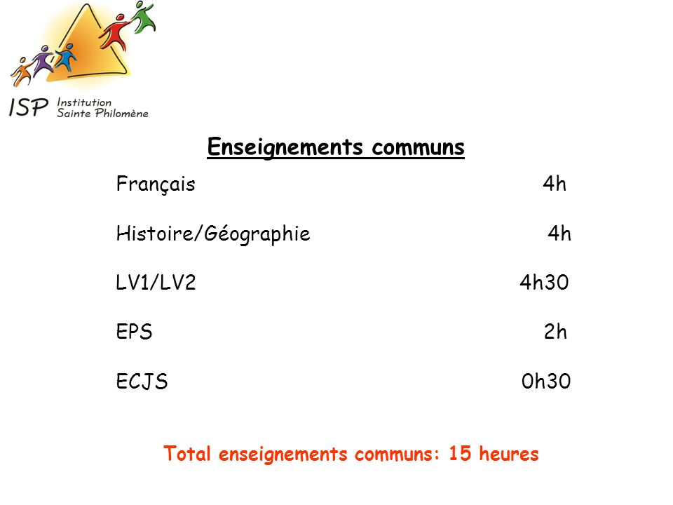 Enseignements communs