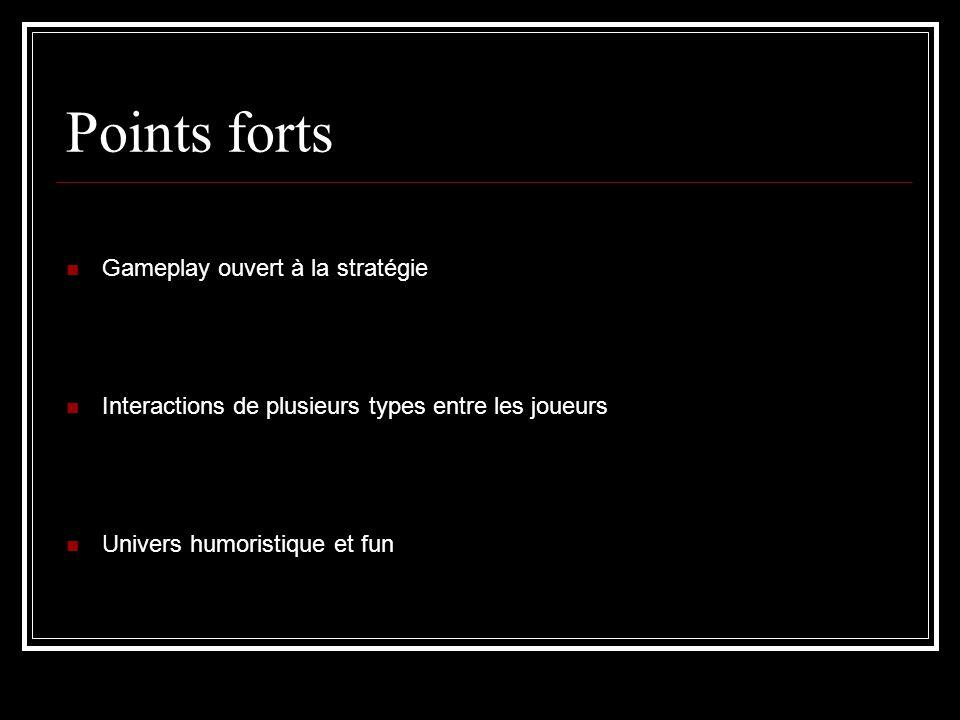 Points forts Gameplay ouvert à la stratégie