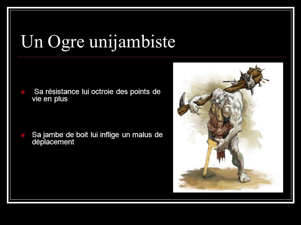 Un Ogre unijambiste Sa résistance lui octroie des points de vie en plus.