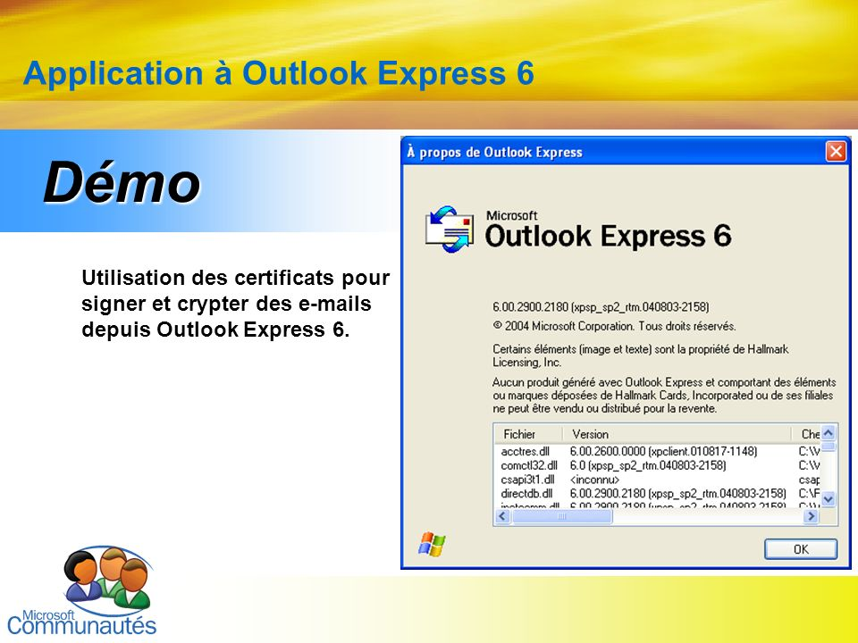 Application à Outlook Express 6