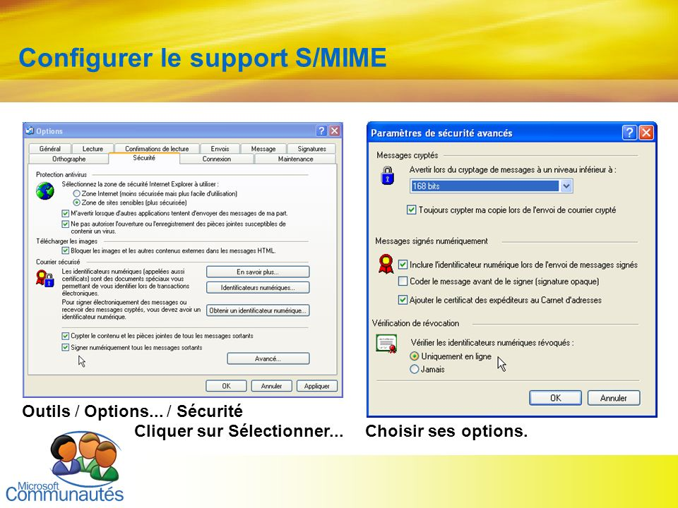 Configurer le support S/MIME