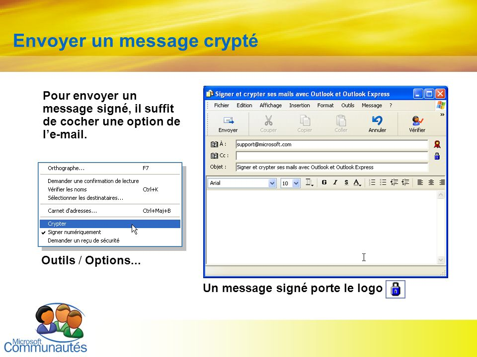 Envoyer un message crypté