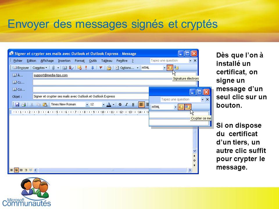 Envoyer des messages signés et cryptés