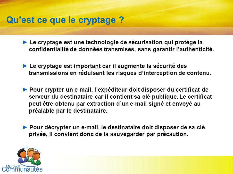 Qu'est ce que le cryptage