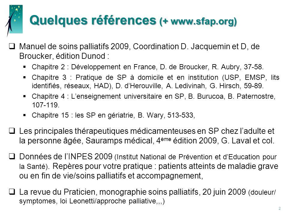 Quelques références (+ www.sfap.org)