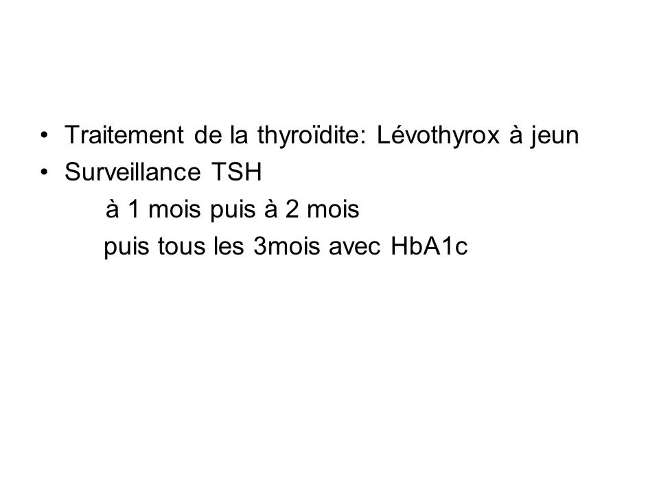 Traitement de la thyroïdite: Lévothyrox à jeun
