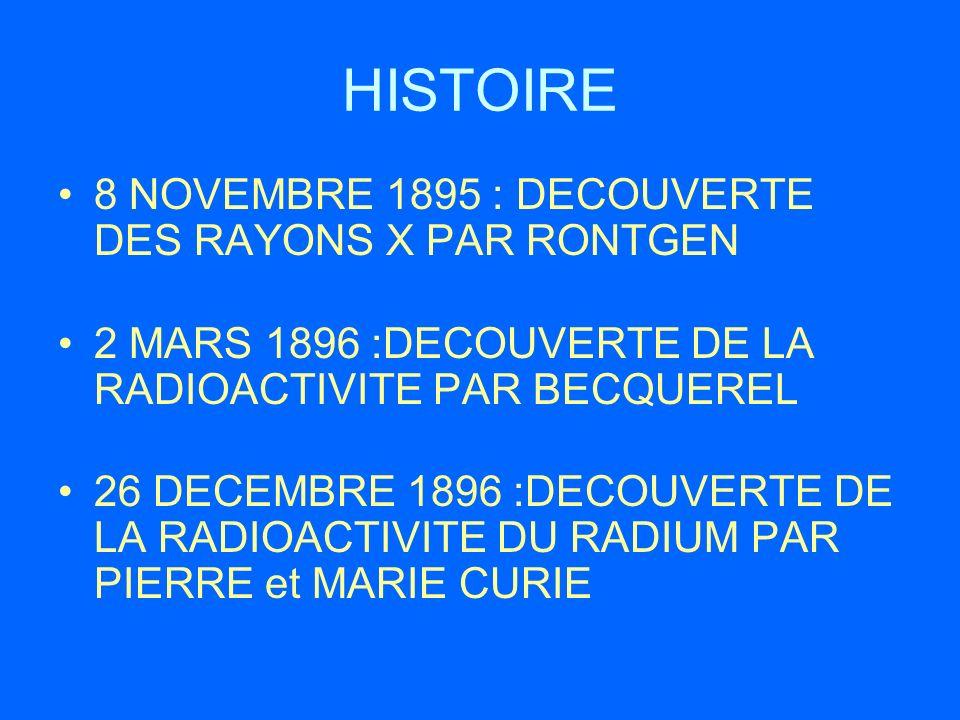 HISTOIRE 8 NOVEMBRE 1895 : DECOUVERTE DES RAYONS X PAR RONTGEN