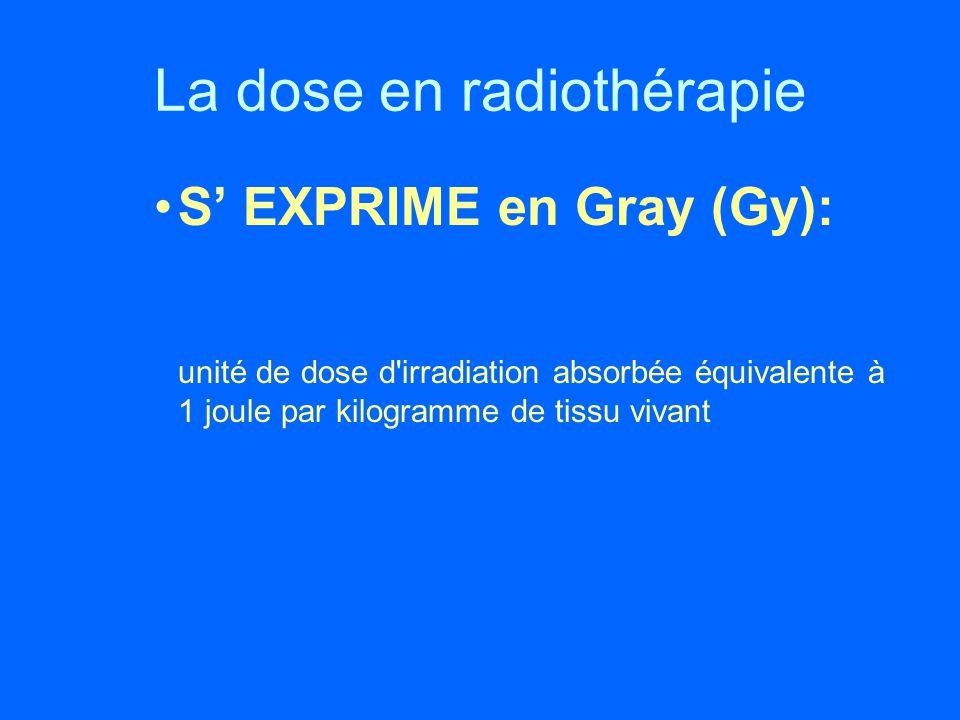 La dose en radiothérapie