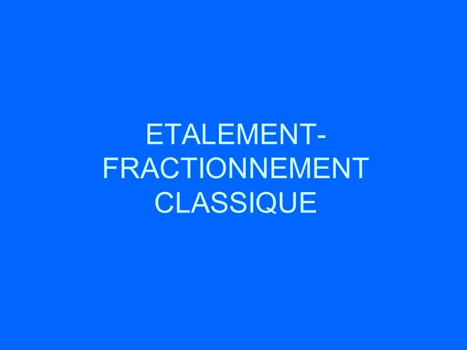 ETALEMENT-FRACTIONNEMENT CLASSIQUE