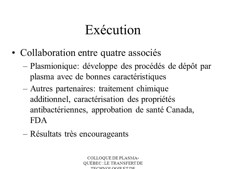 Exécution Collaboration entre quatre associés
