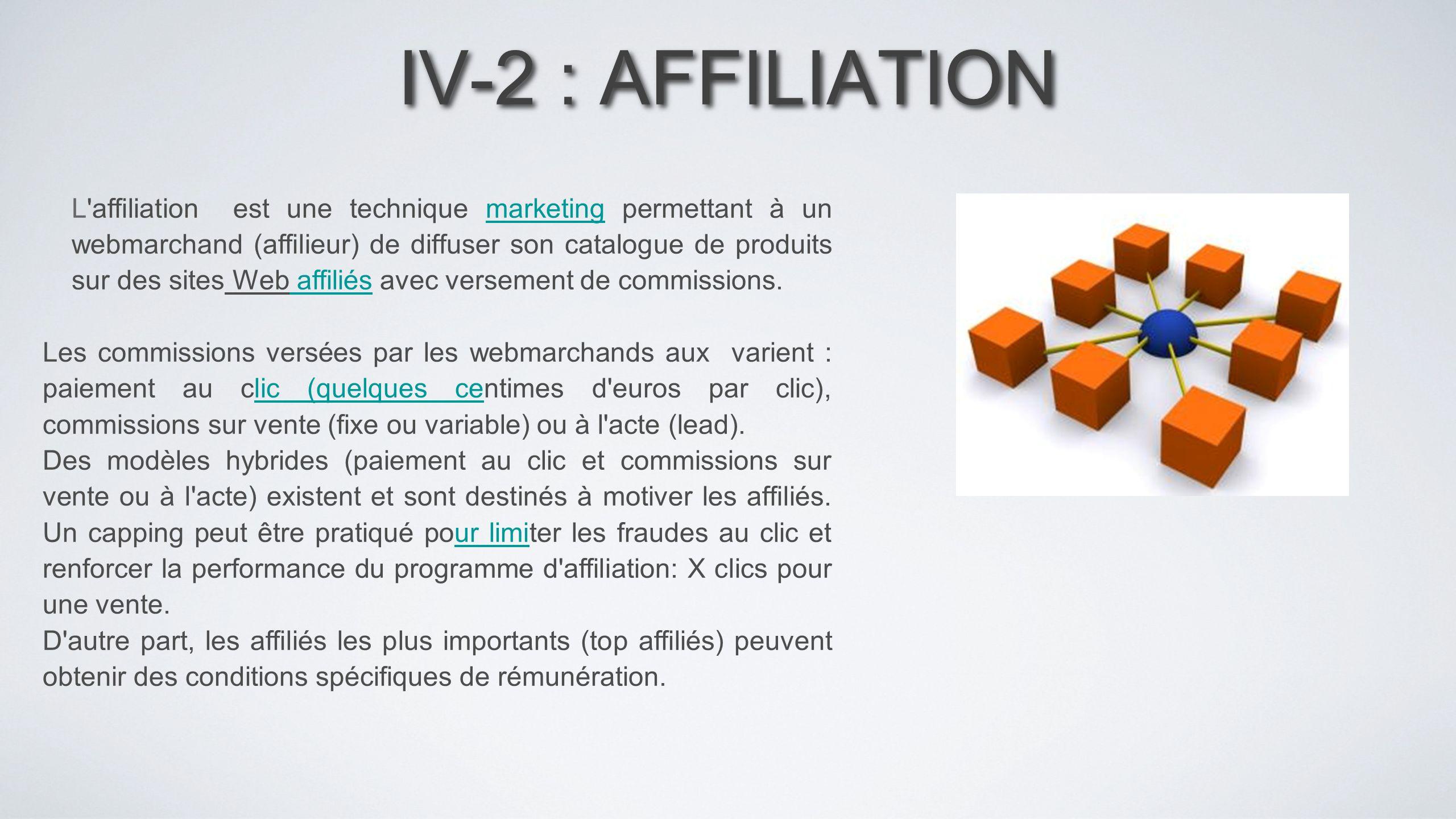 IV-2 : AFFILIATION