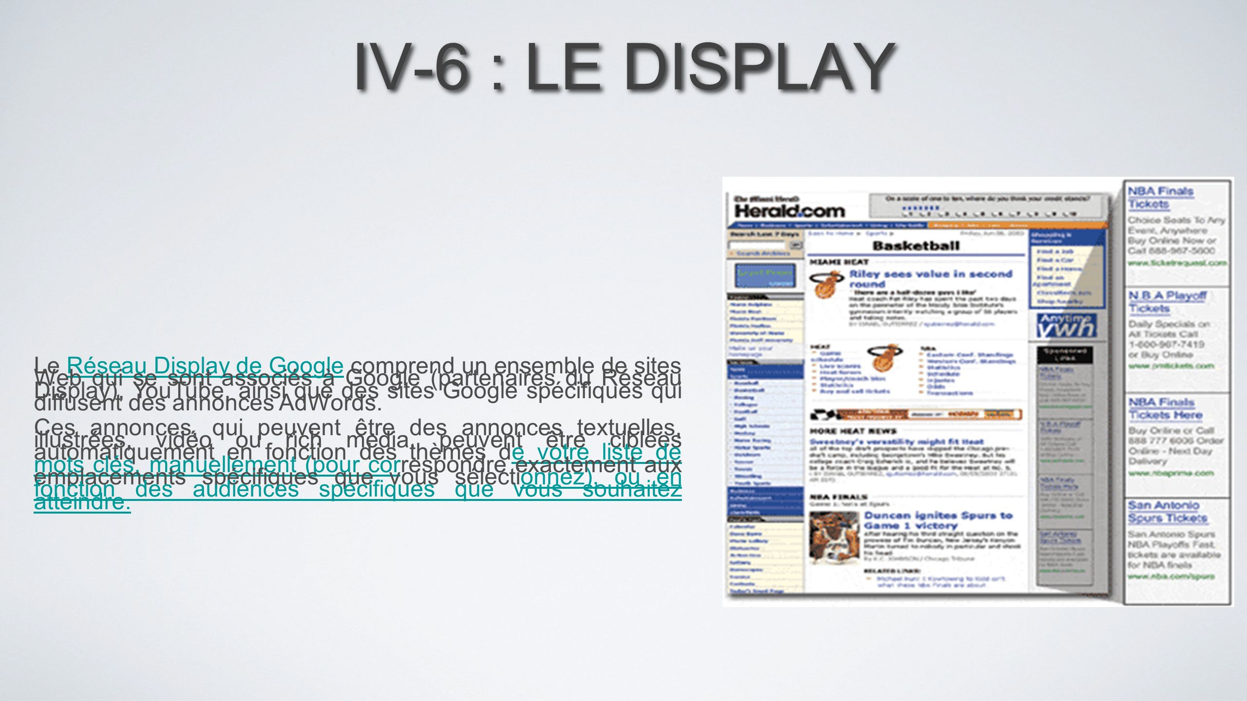 IV-6 : LE DISPLAY