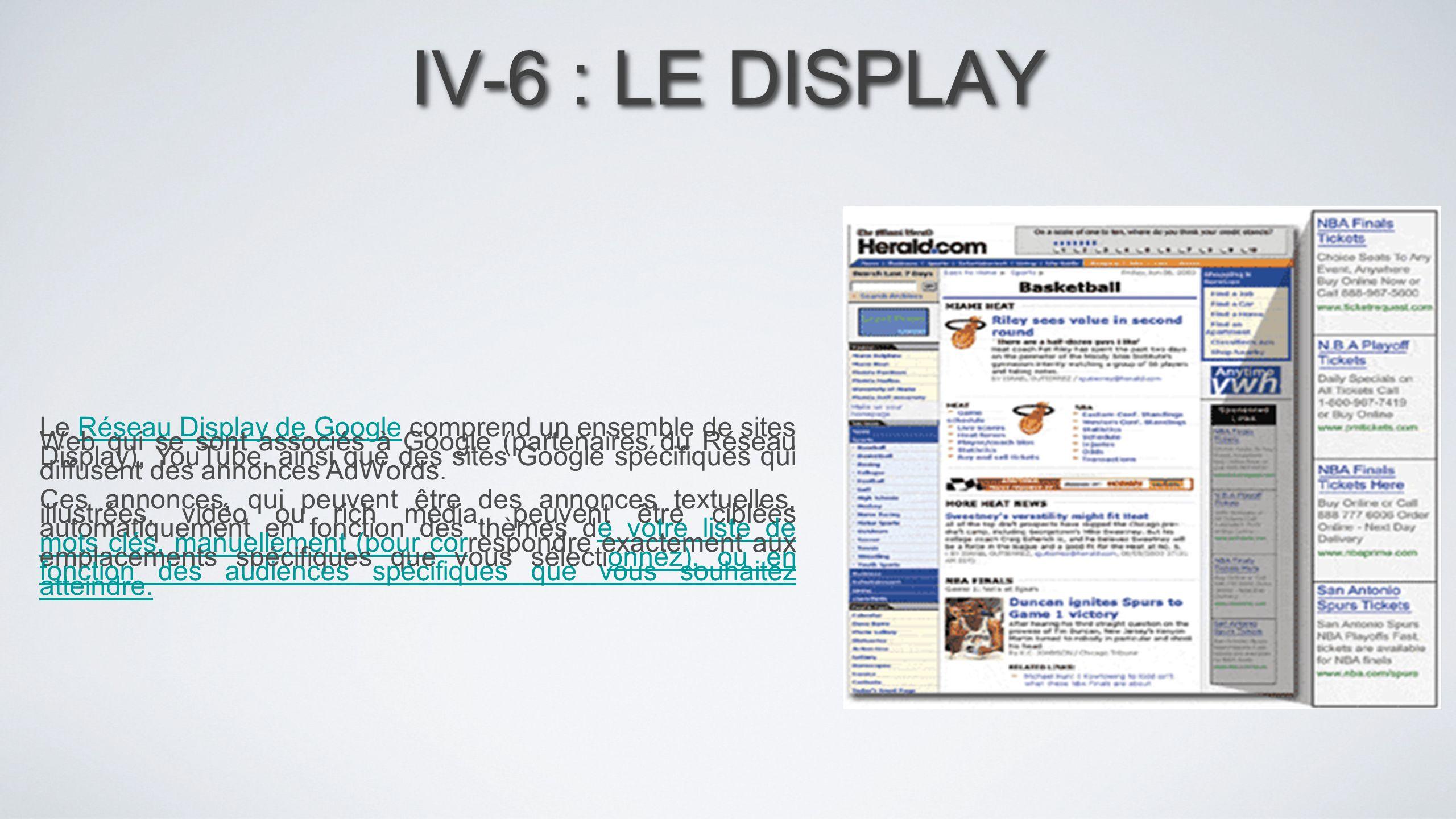 IV-6 : LE DISPLAY