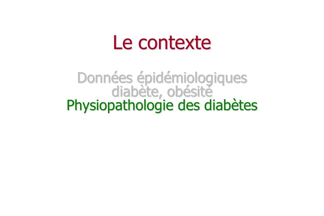 Le contexte Données épidémiologiques diabète, obésité