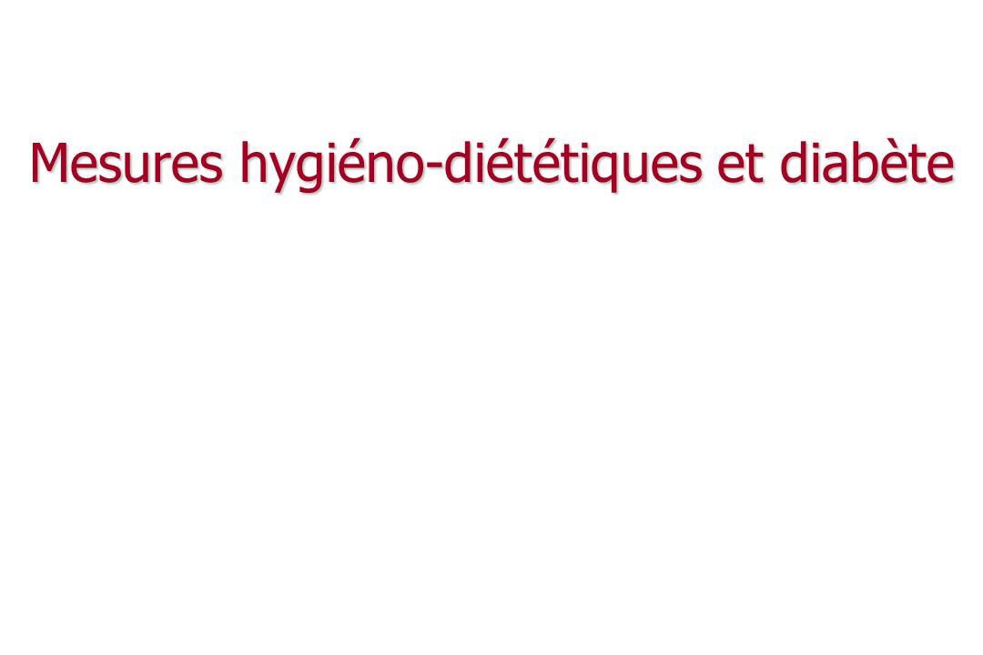 Mesures hygiéno-diététiques et diabète
