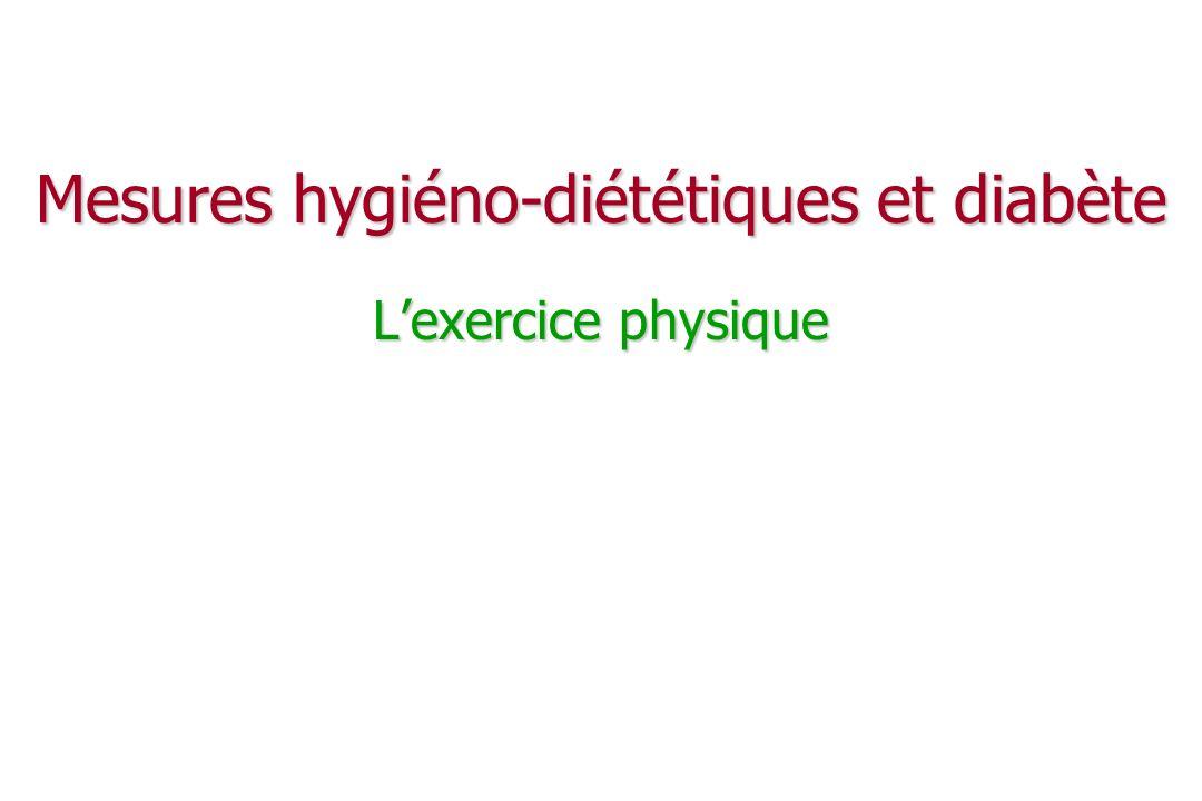 Mesures hygiéno-diététiques et diabète L'exercice physique