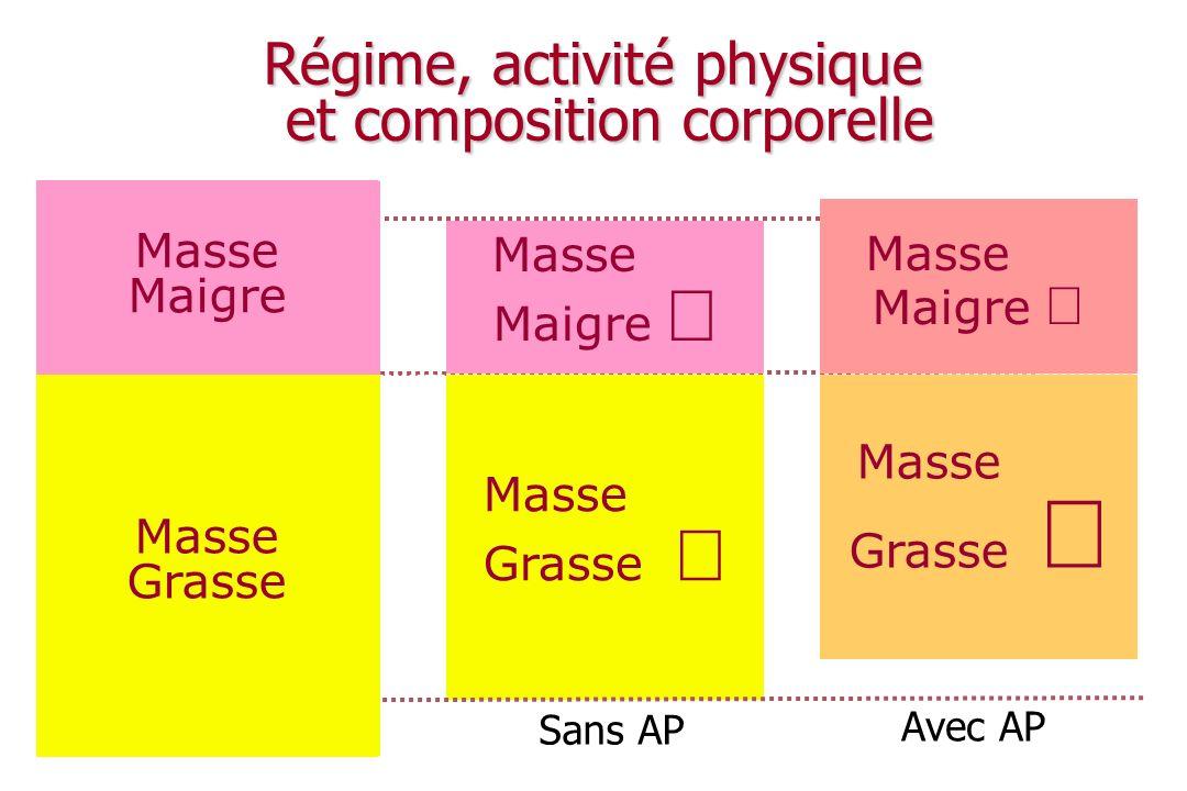 Régime, activité physique et composition corporelle