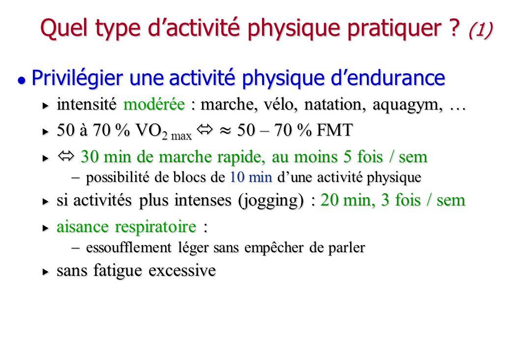 Quel type d'activité physique pratiquer (1)