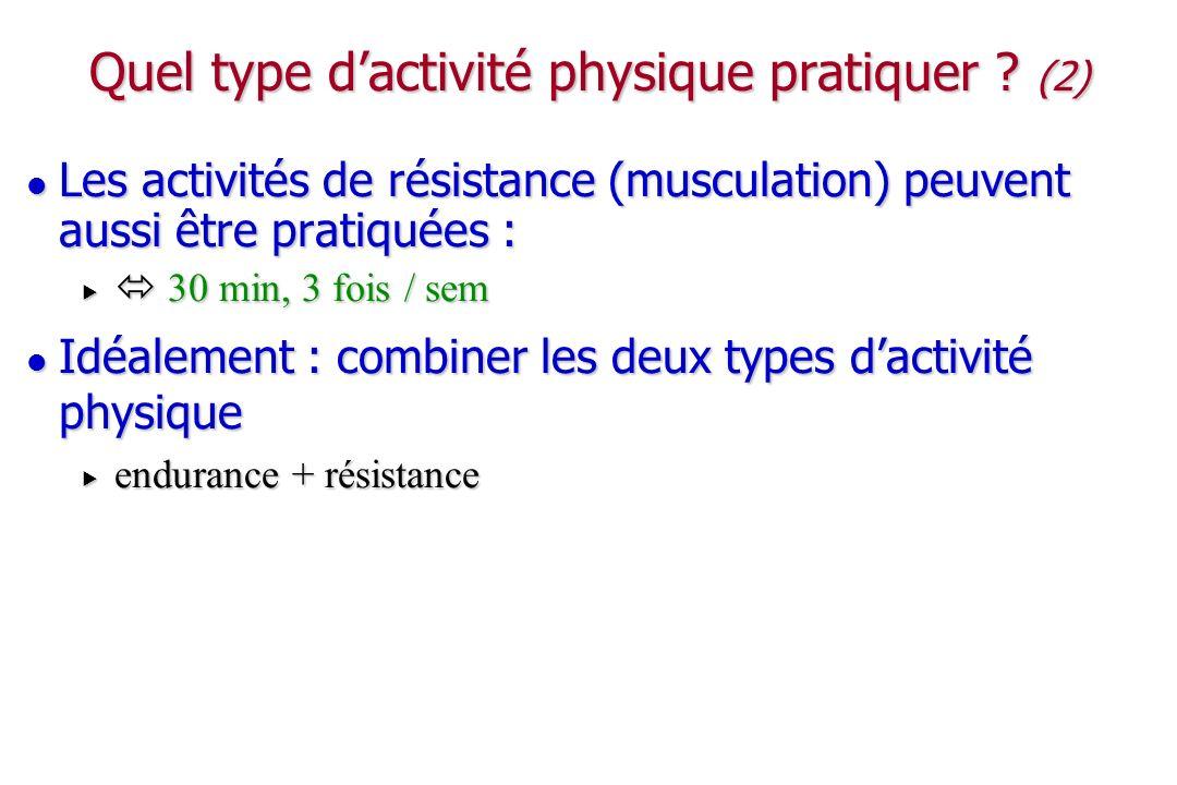 Quel type d'activité physique pratiquer (2)