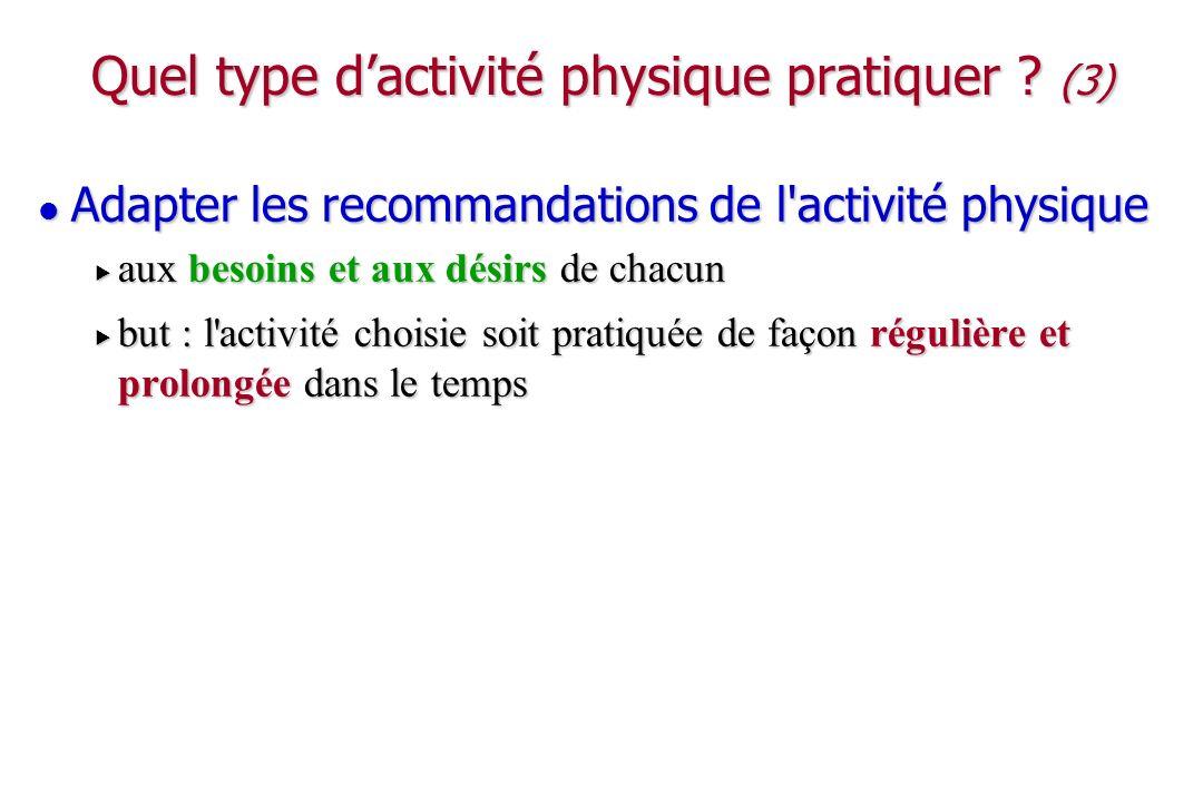 Quel type d'activité physique pratiquer (3)