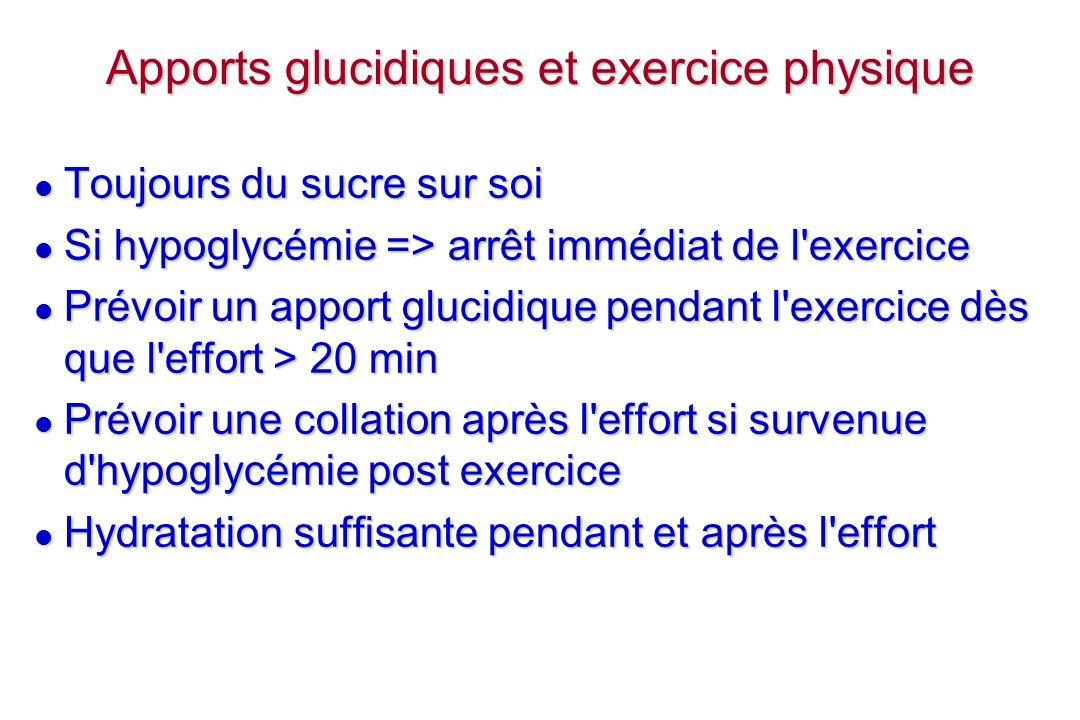 Apports glucidiques et exercice physique