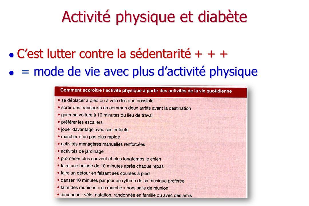 Activité physique et diabète