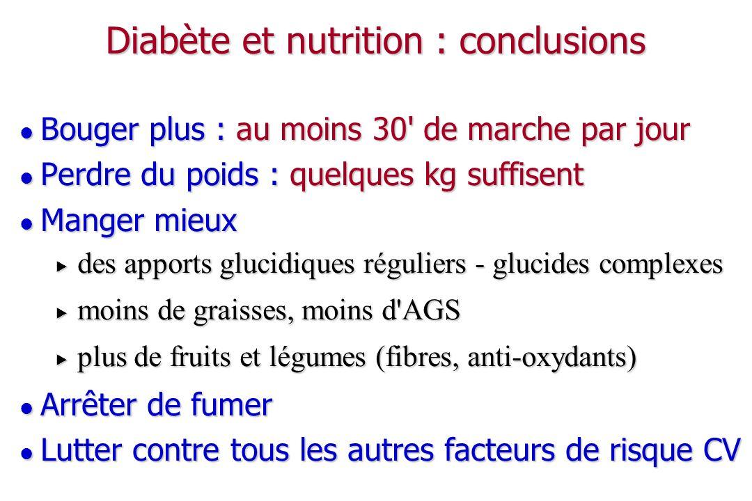 Diabète et nutrition : conclusions
