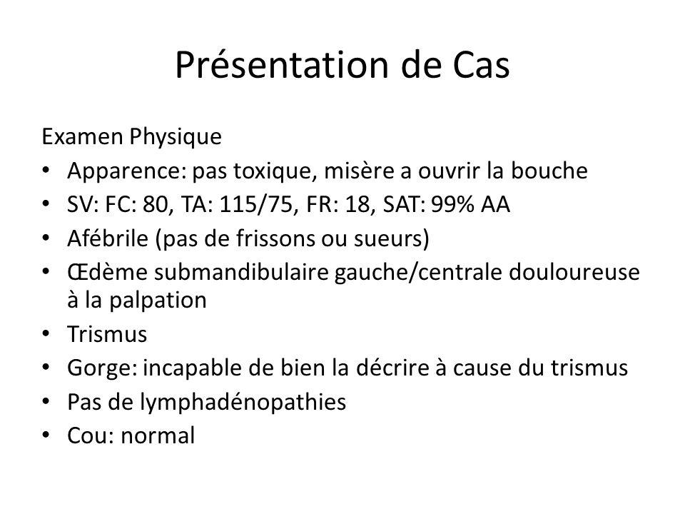 Présentation de Cas Examen Physique