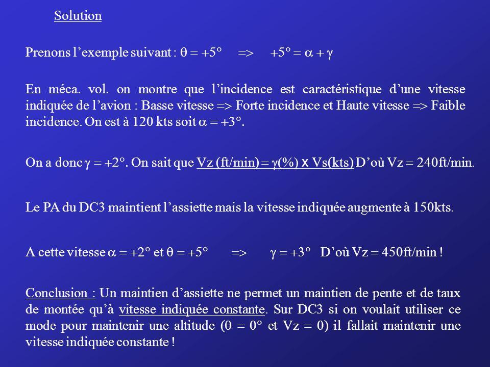 SolutionPrenons l'exemple suivant : q = +5° => +5° = a + g.