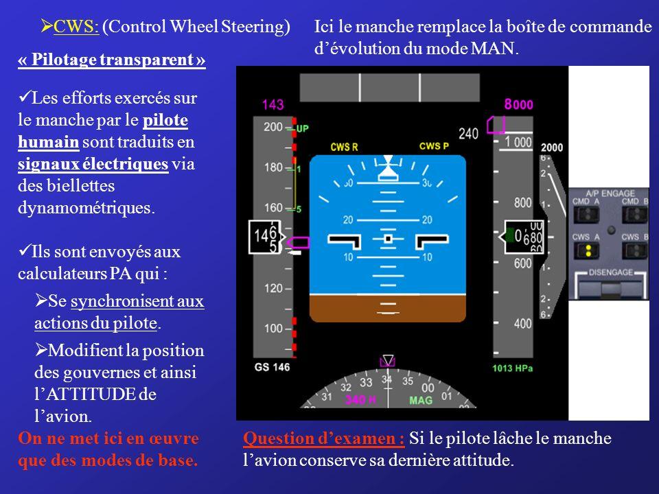 CWS: (Control Wheel Steering)