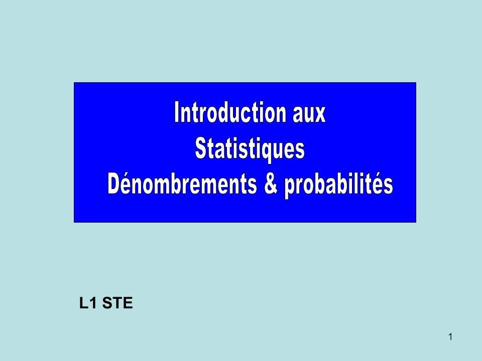 Dénombrements & probabilités