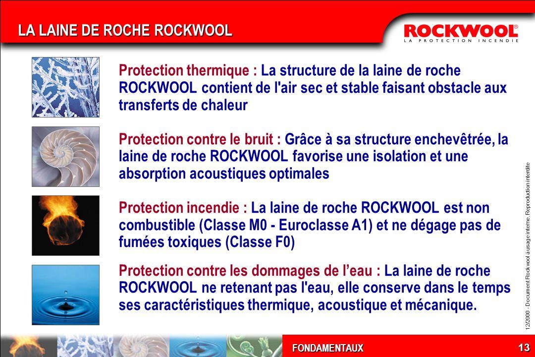 LA LAINE DE ROCHE ROCKWOOL