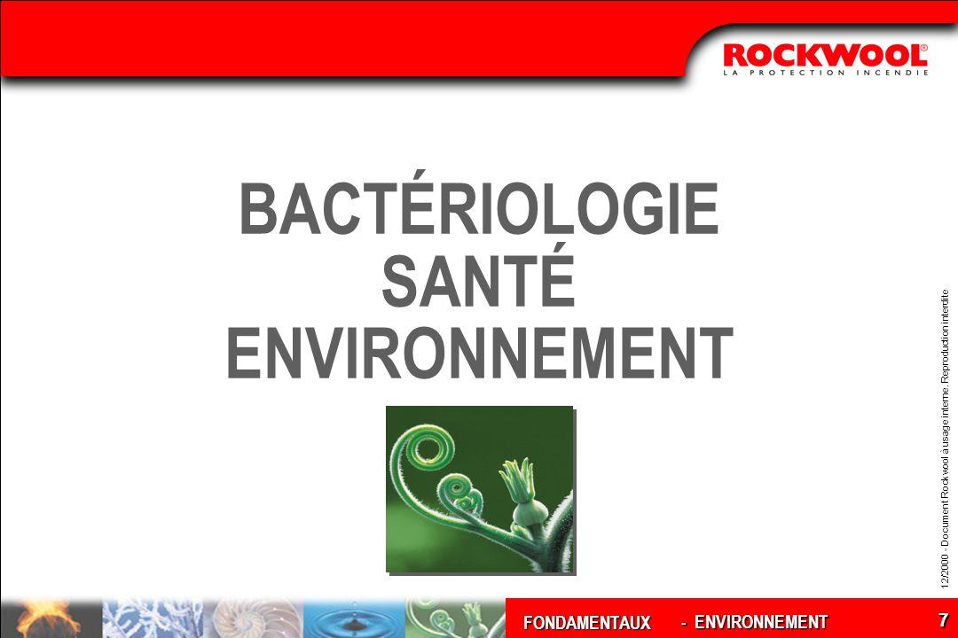 BACTÉRIOLOGIE SANTÉ ENVIRONNEMENT
