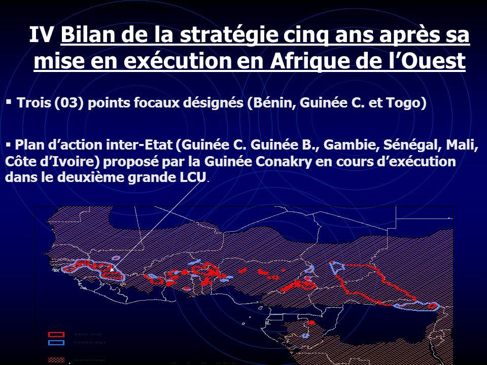 IV Bilan de la stratégie cinq ans après sa mise en exécution en Afrique de l'Ouest