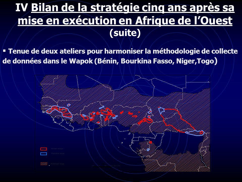 IV Bilan de la stratégie cinq ans après sa mise en exécution en Afrique de l'Ouest (suite)