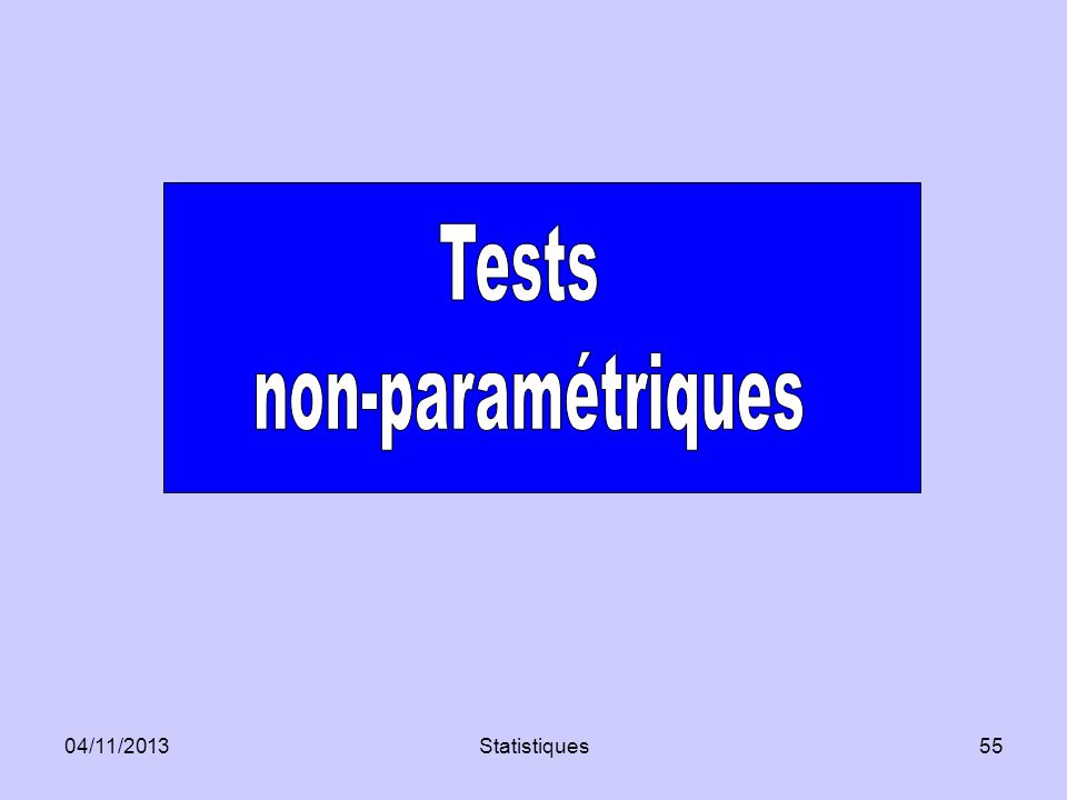 Tests non-paramétriques