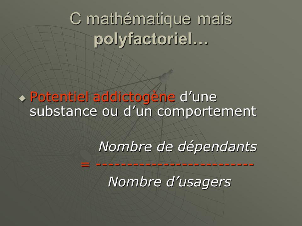 C mathématique mais polyfactoriel…