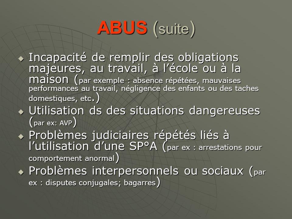 ABUS (suite)