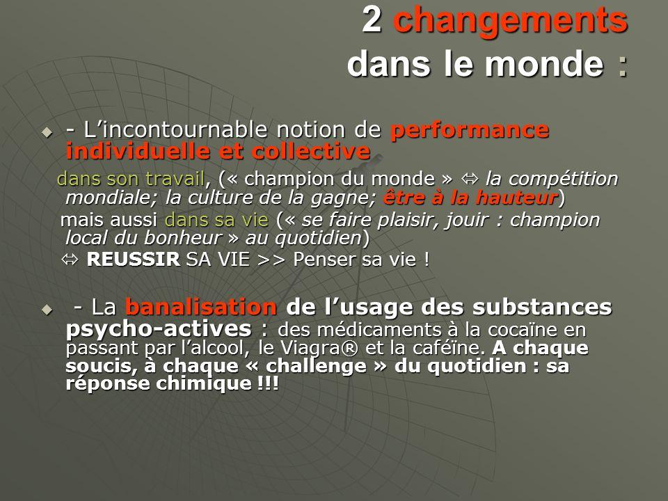 2 changements dans le monde :