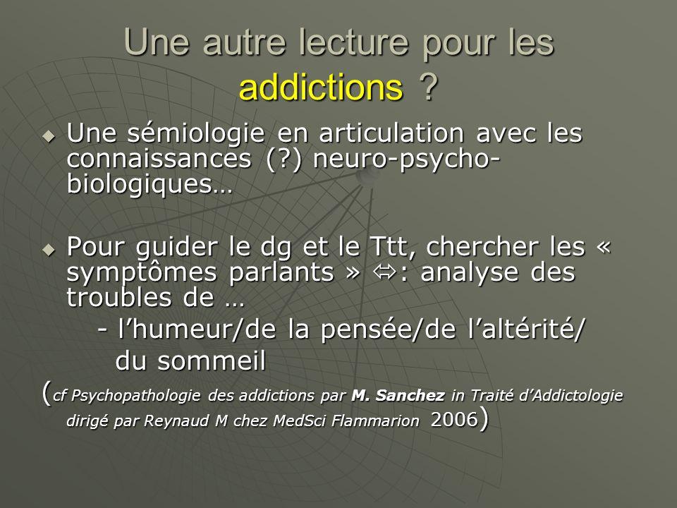 Une autre lecture pour les addictions