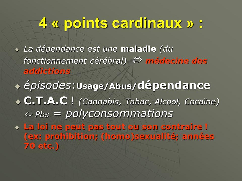 4 « points cardinaux » : épisodes:Usage/Abus/dépendance