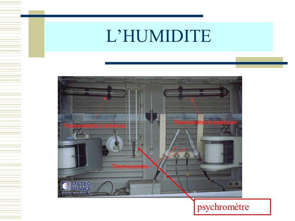 L'HUMIDITE psychromètre