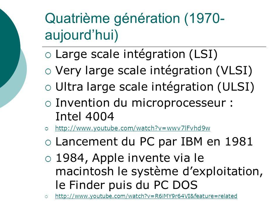 Quatrième génération (1970- aujourd'hui)