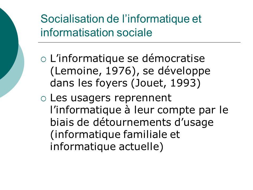Socialisation de l'informatique et informatisation sociale