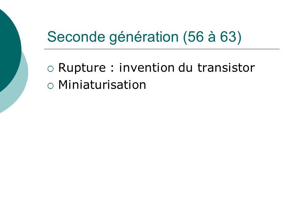 Seconde génération (56 à 63)