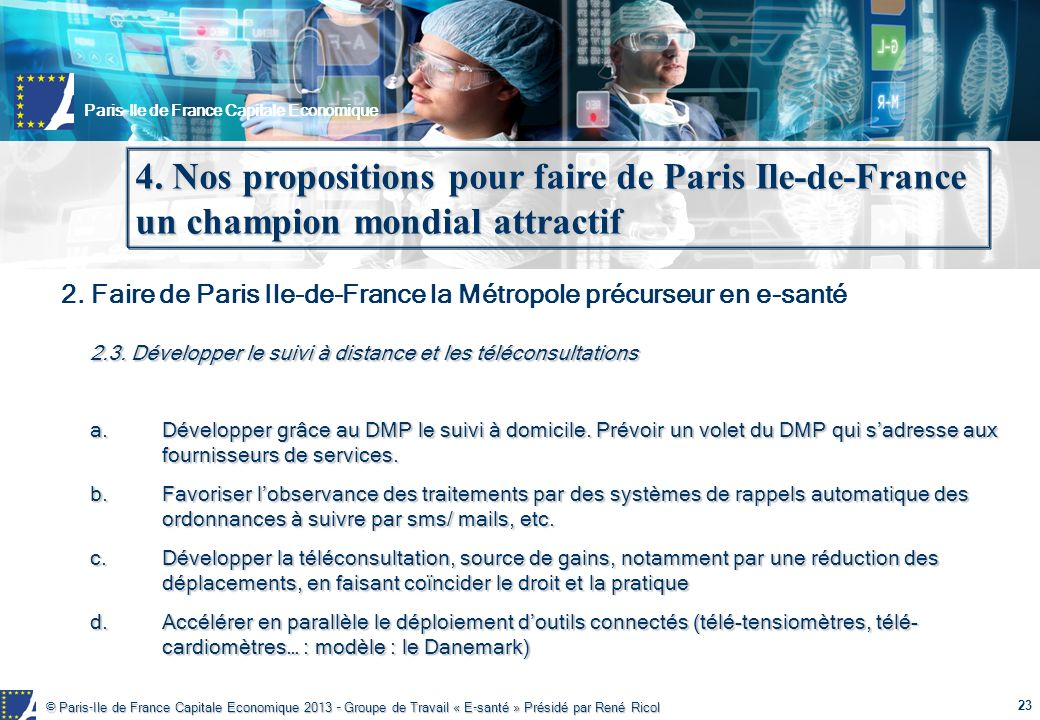4. Nos propositions pour faire de Paris Ile-de-France un champion mondial attractif