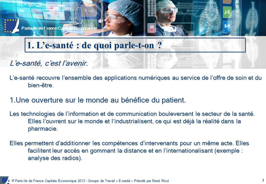 1. L'e-santé : de quoi parle-t-on
