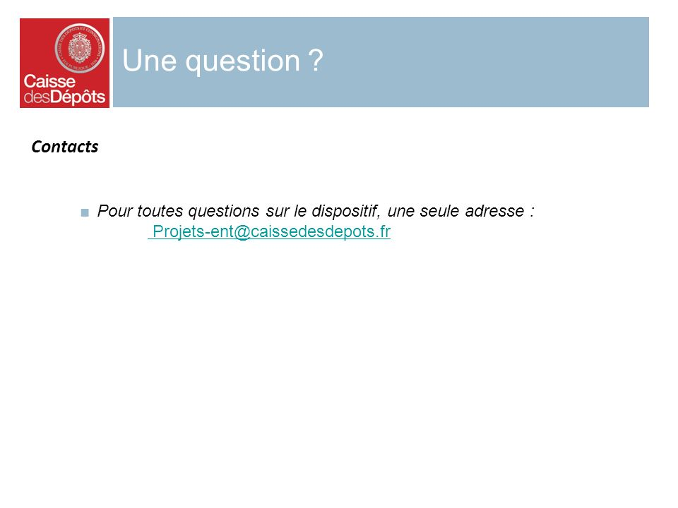 Une question . Contacts.