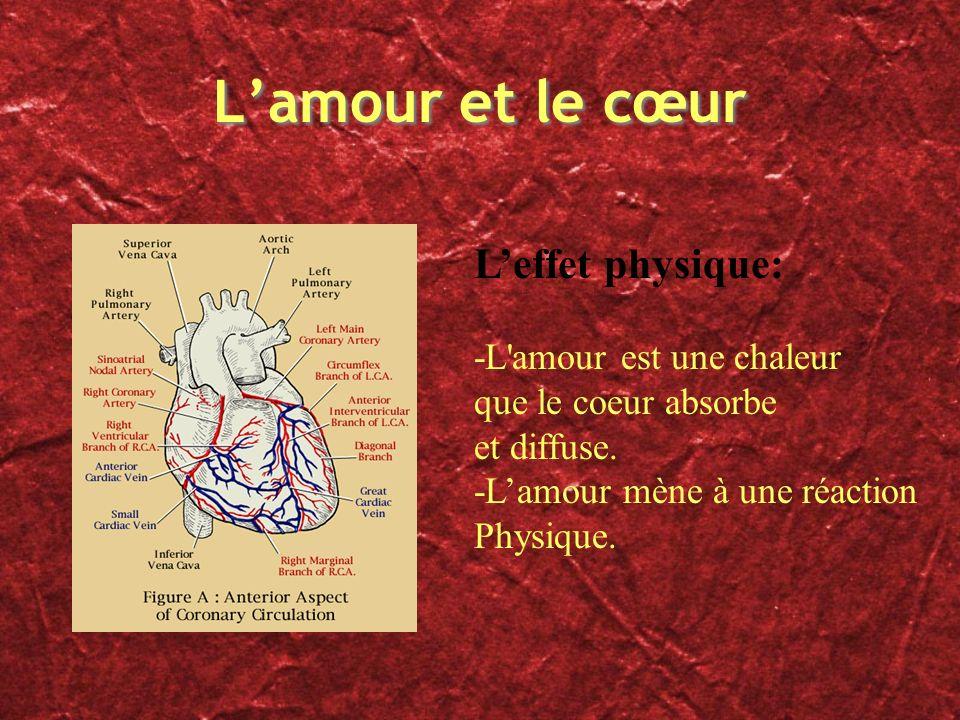 L'amour et le cœur L'effet physique: -L amour est une chaleur