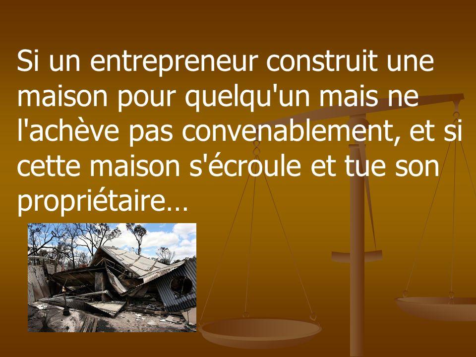 Le code de hammurabi ppt video online t l charger for Entrepreneur maison